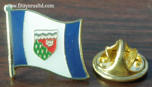 Northwest Territories NWT Flag Lapel Hat Cap Tie Pin Badge TNO Canada